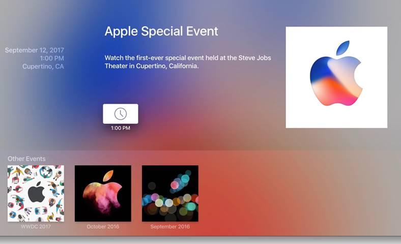 iPhone 8 Live Stream Prezentare Apple TV