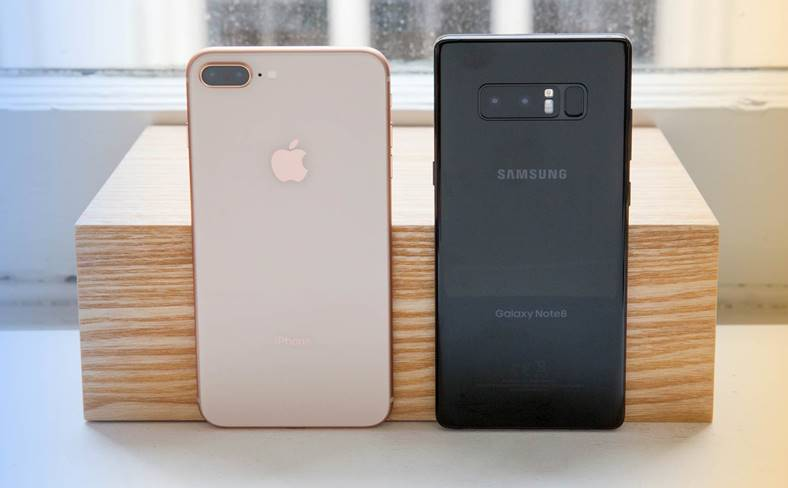 iPhone 8 Plus Galaxy Note 8 - Camere