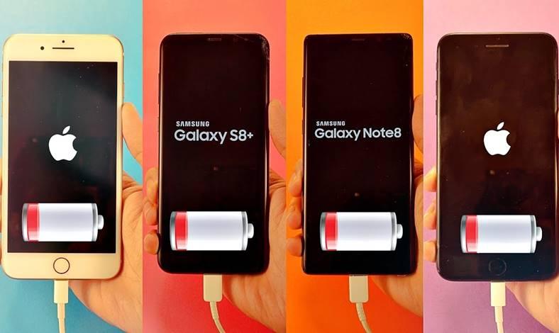 iPhone 8 Plus Galaxy S8 Note 8 Autonomia Bateriei