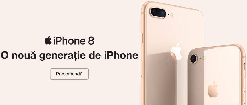 iPhone 8 Precomanda Telekom Romania