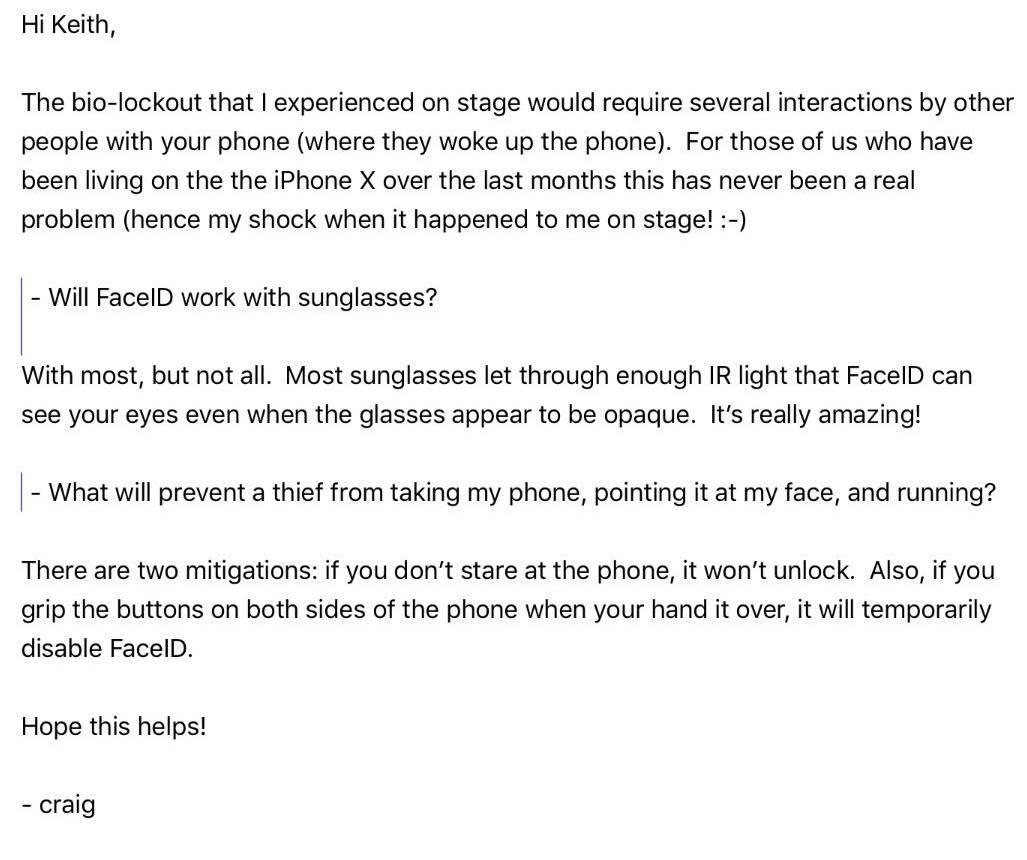 iPhone X Face ID ochelari dezactivare