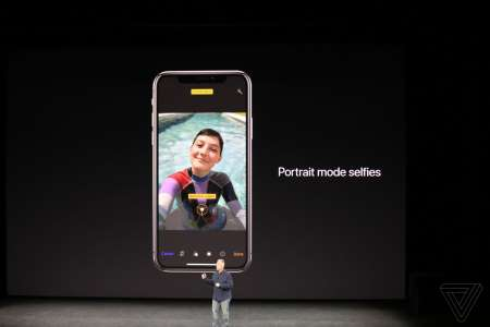 iPhone X Portret selfie