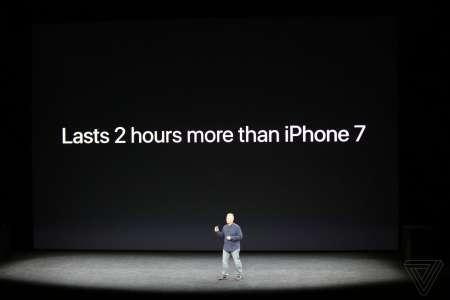 iPhone X autonomie baterie