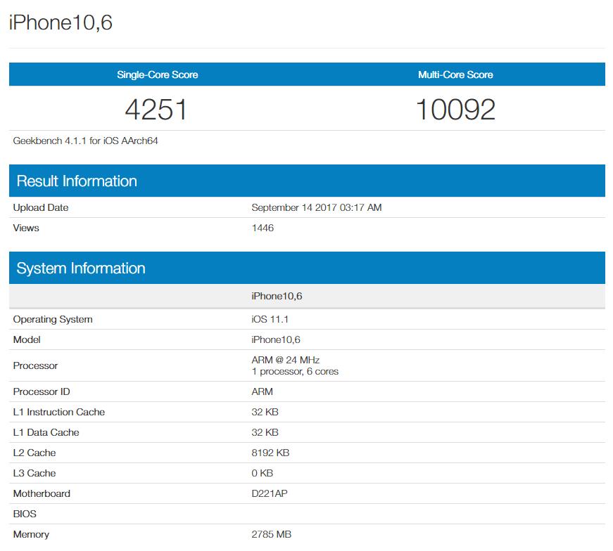 iPhone X confirma iOS 11.1