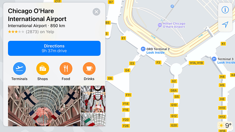 Apple Functie iOS 11 aeroport