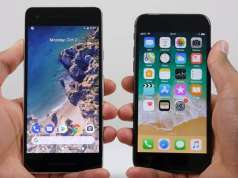 Google Pixel 2 comparatie iPhone 8