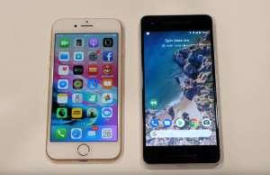 Google Pixel 2 iPhone 8 Comparatie