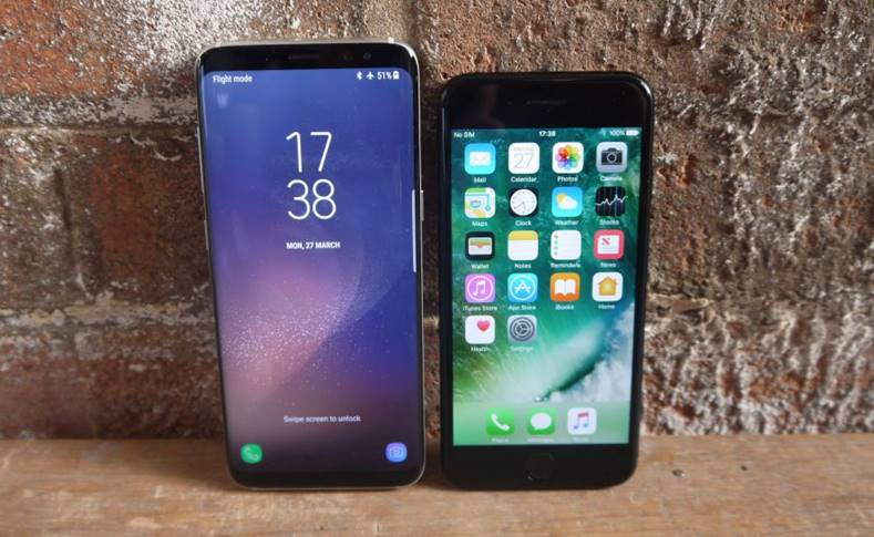 Samsung Galaxy S8 esuat iPhone