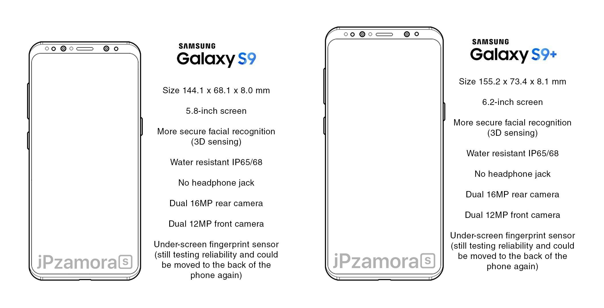 Samsung Galaxy S9 Copia iPhone 7
