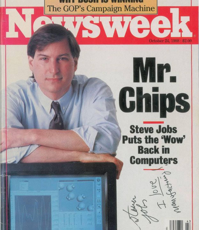 Steve Jobs revista semnata