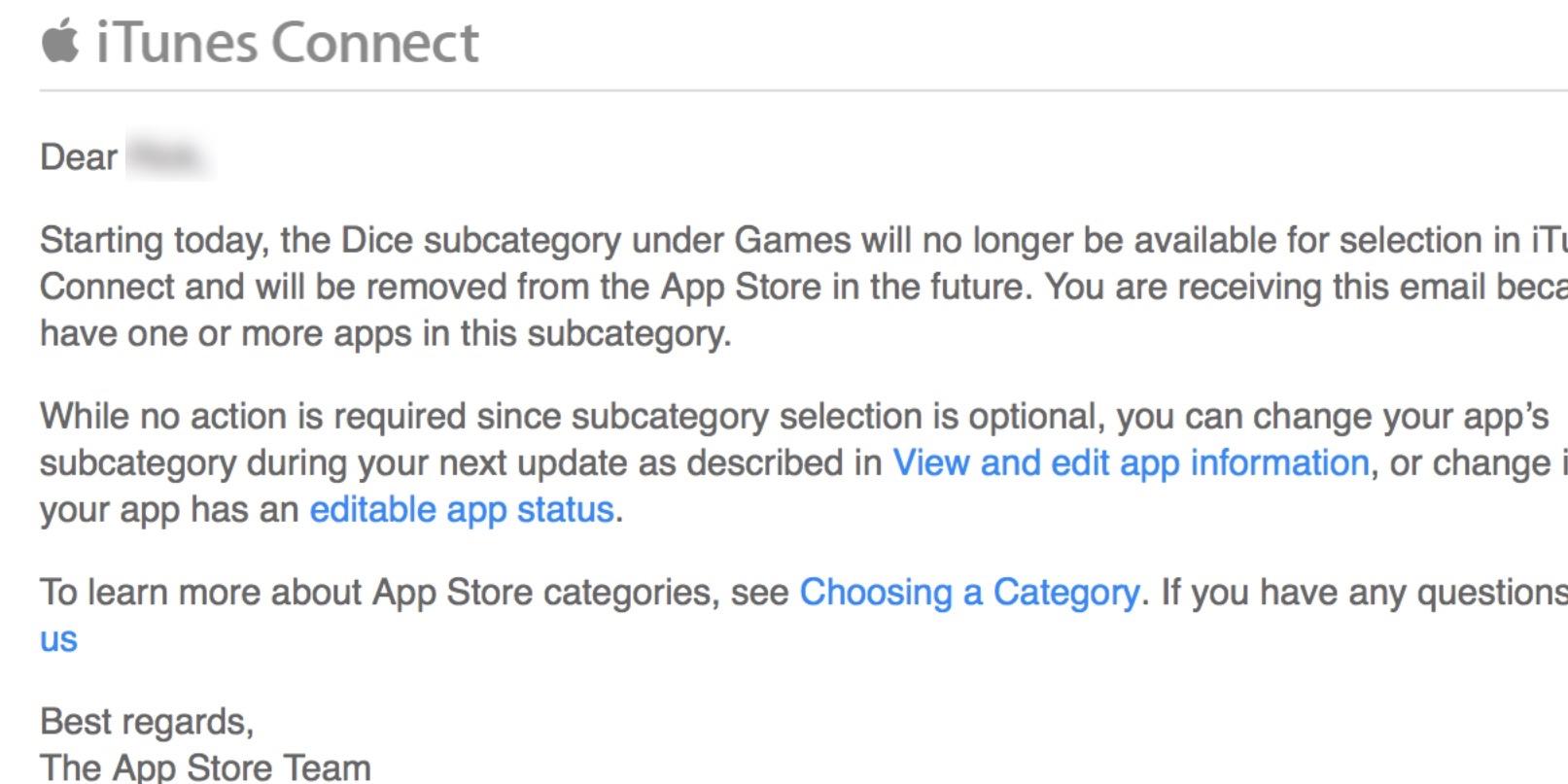 app store categorii