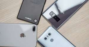 iPhone 8 Plus Galaxy Note 8 LG G6 Xperia XZ1 camera