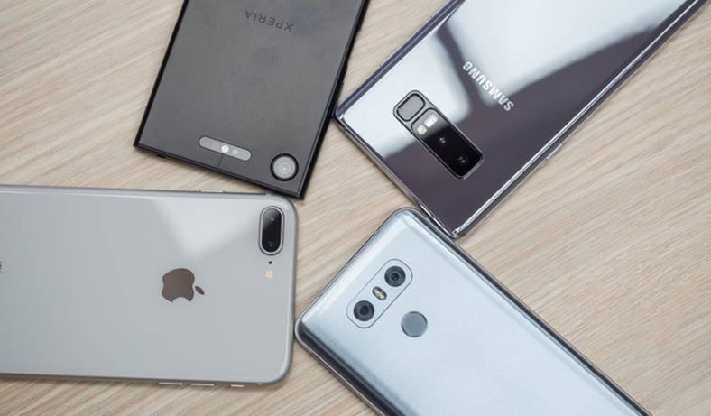 iPhone 8 Plus Galaxy Note 8 LG G6 Xperia XZ1 camera