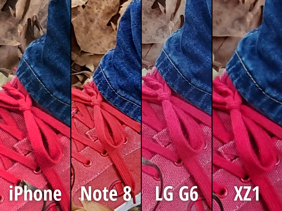 iPhone 8 Plus Note 8 LG G6 Xperia XZ1 camera 1