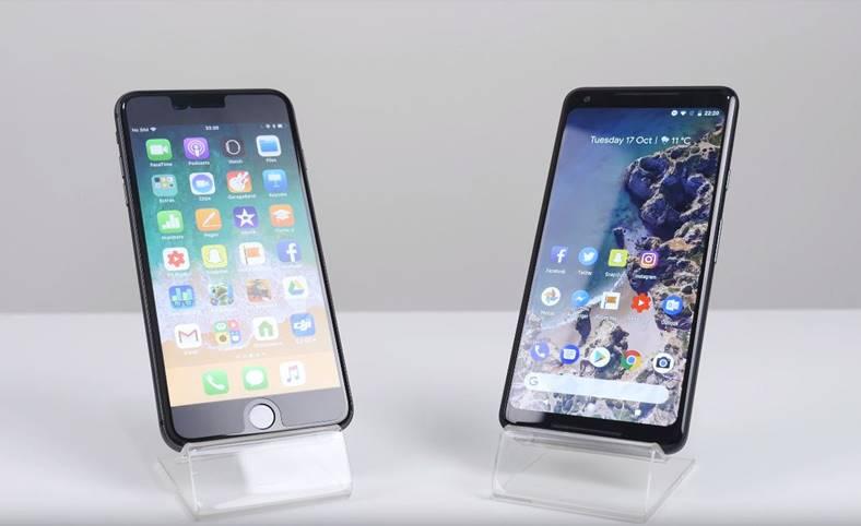 iPhone 8 Plus performante Google Pixel 2 XL