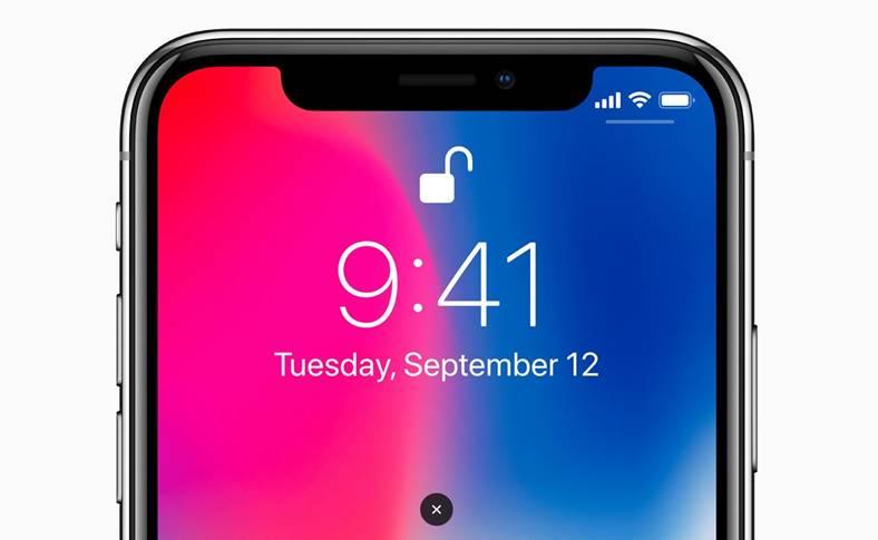 iPhone X accesa aplicatii