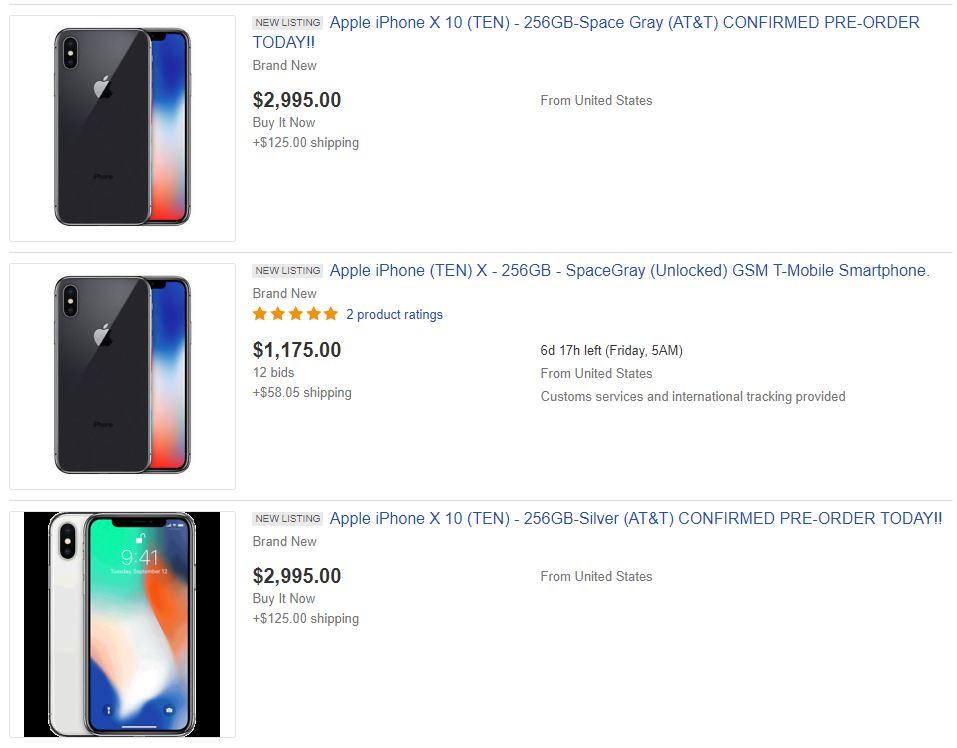 iPhone X preturi eBay