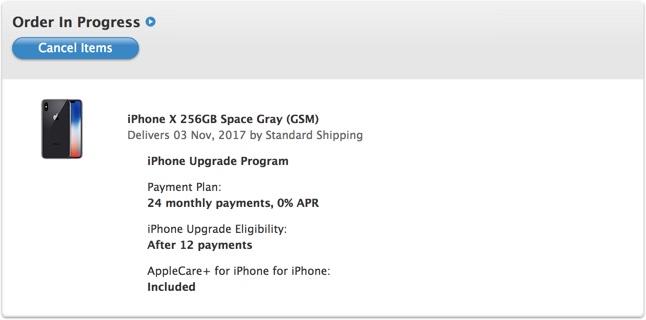 iPhone X unitati livrare 1