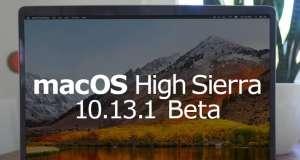 macOS High Sierra 10.13.1 beta 3