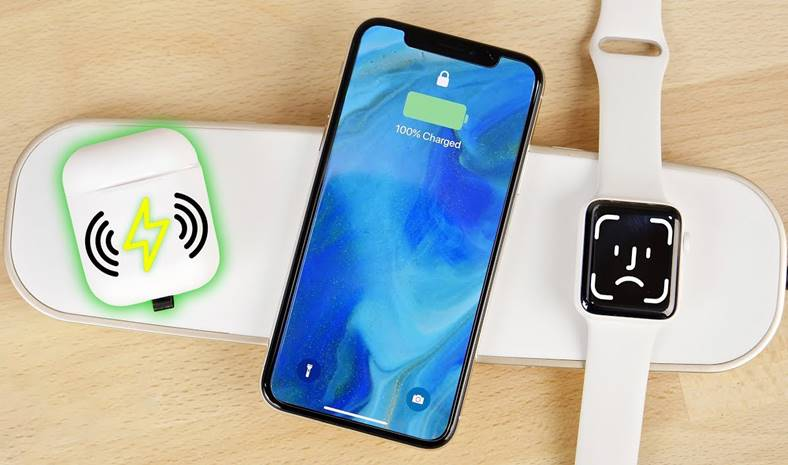 AirPods incarcare wireless pad iphone