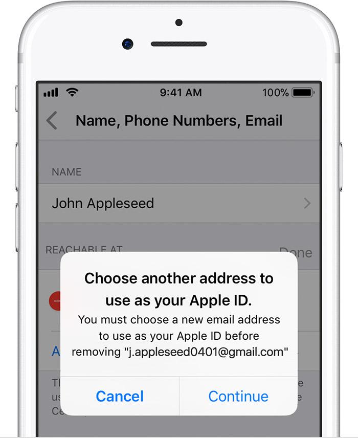 Apple ID adresa email