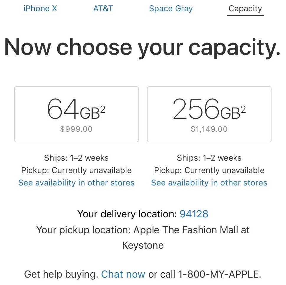 Apple iPhone X timpi livrare