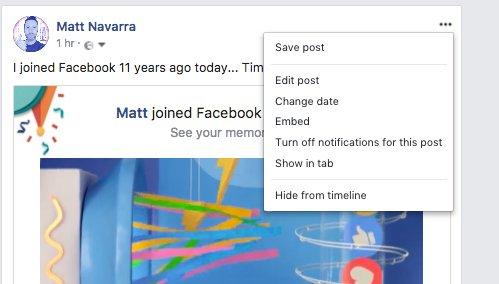 Facebook buton stergere postari