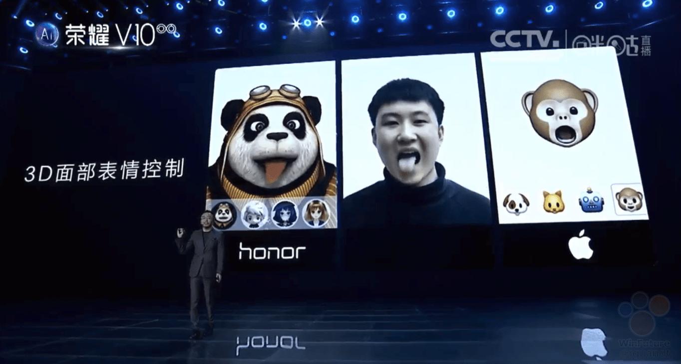 Honor V10 clona Face ID iPhone X 2