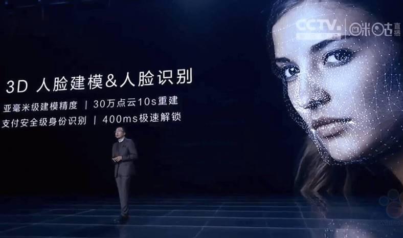 Huawei copiat face ID iphone x
