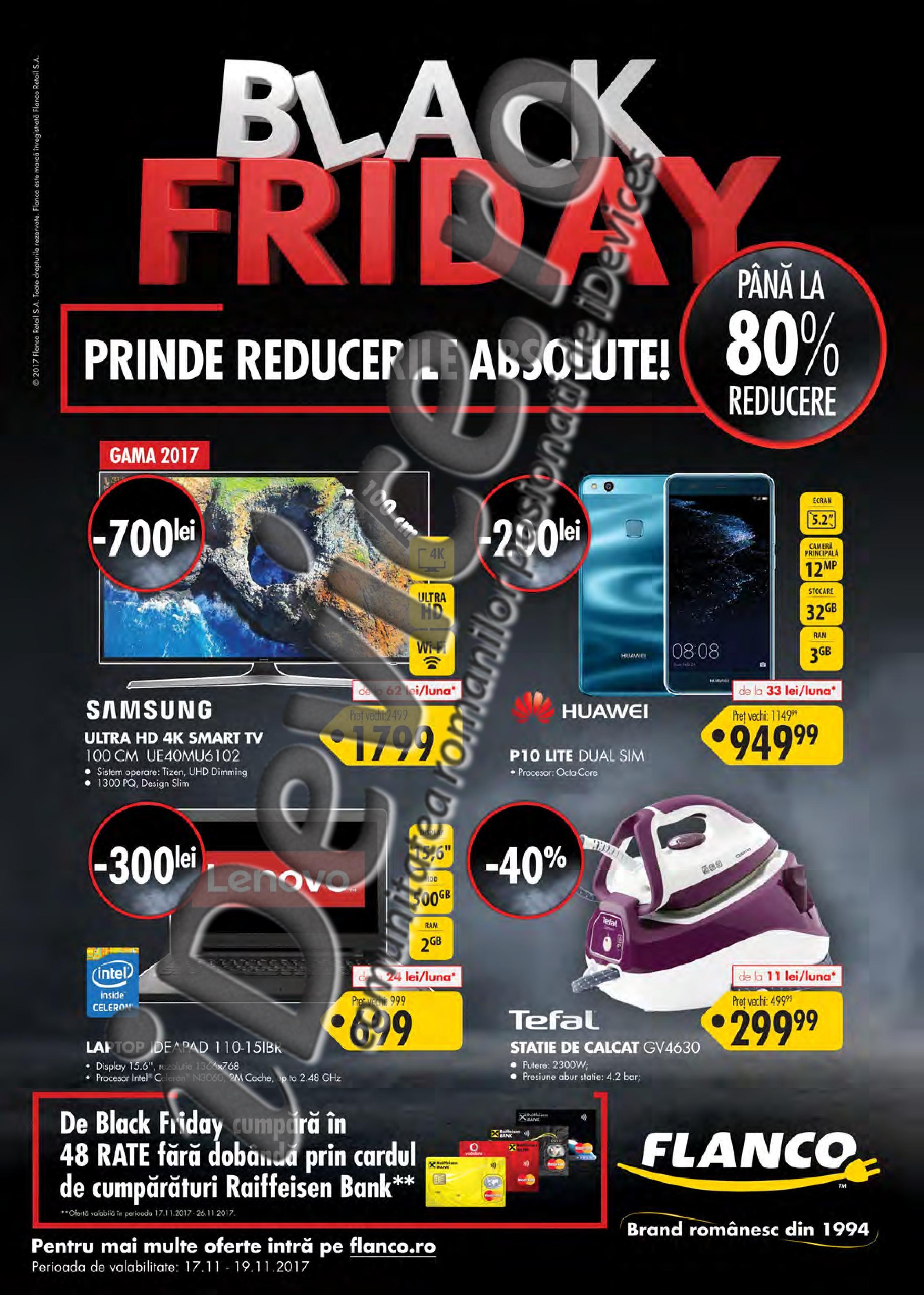 catalog reduceri Flanco Black Friday 2017