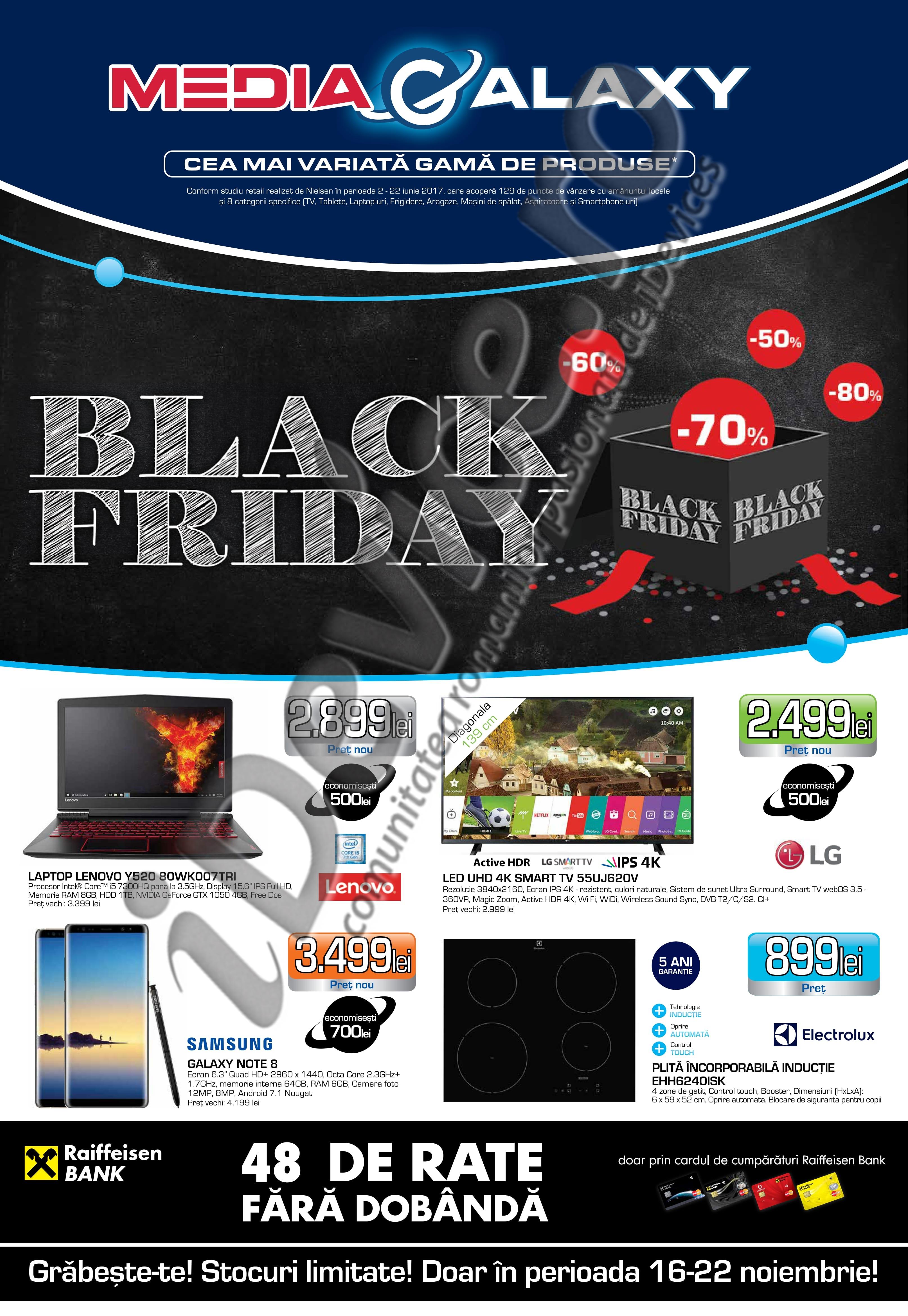 catalog reduceri media galaxy black friday 2017