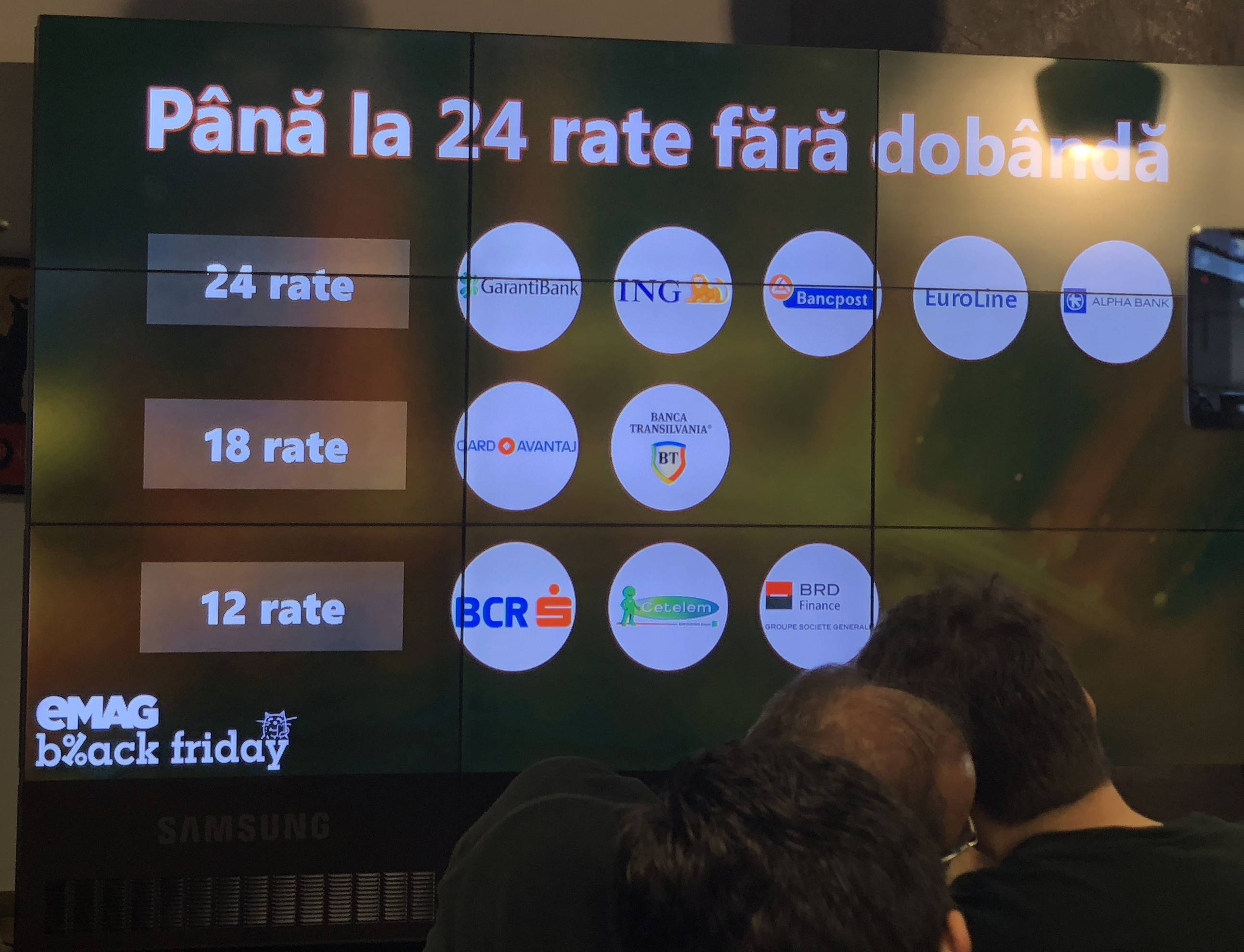 eMAG Black Friday 2017 reduceri rate dobanda banci