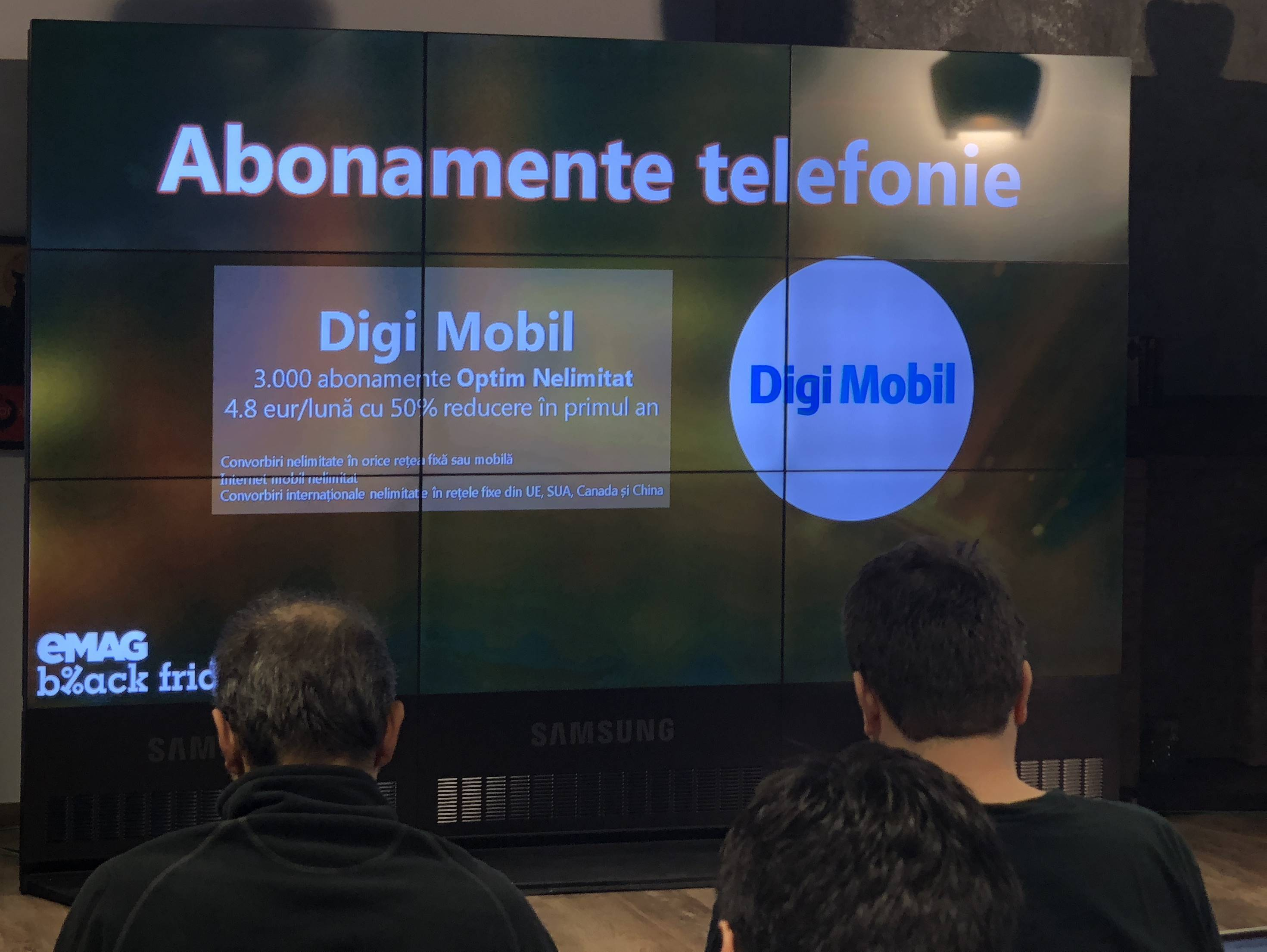 eMAG abonamente Digi Mobil Black Friday 2017