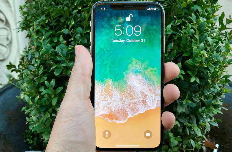 face id iphone x baterie
