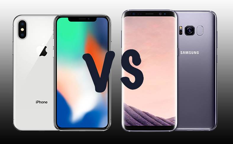 iPhone X Galaxy S8 Inghet