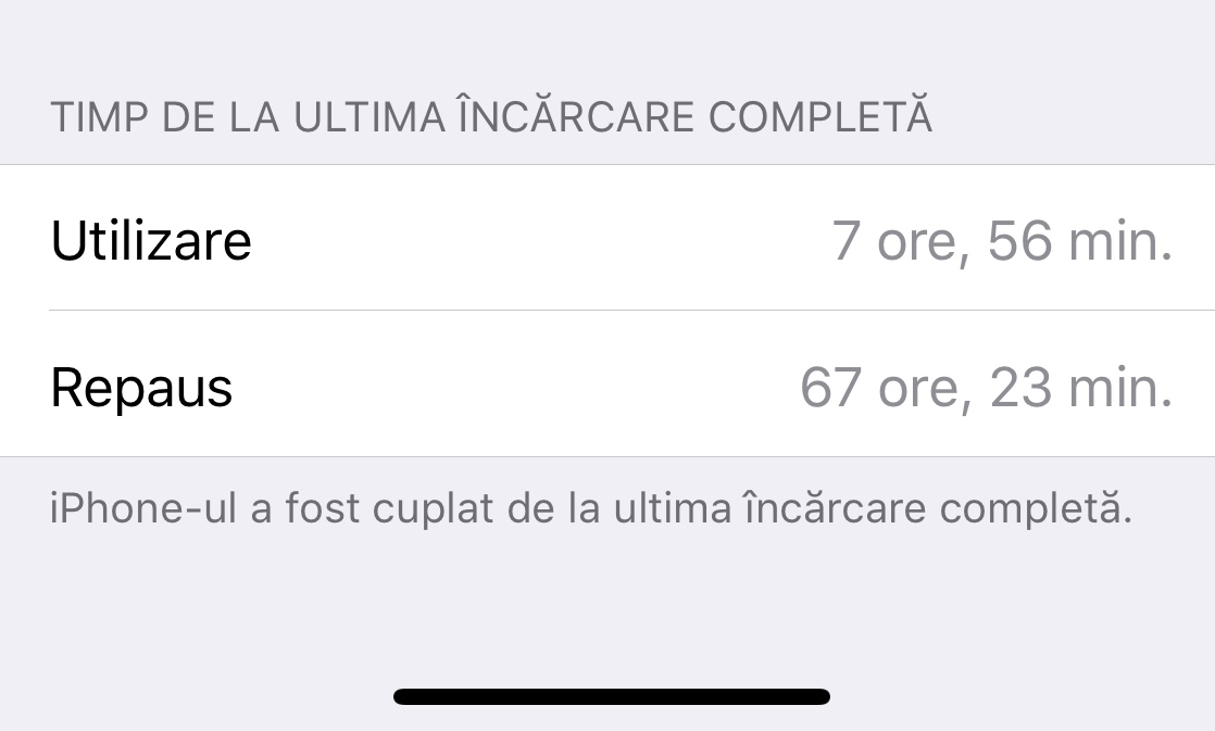 iPhone X autonomia bateriei 1