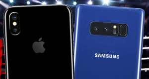 iPhone X galaxy Note 8 autonomie bateriei