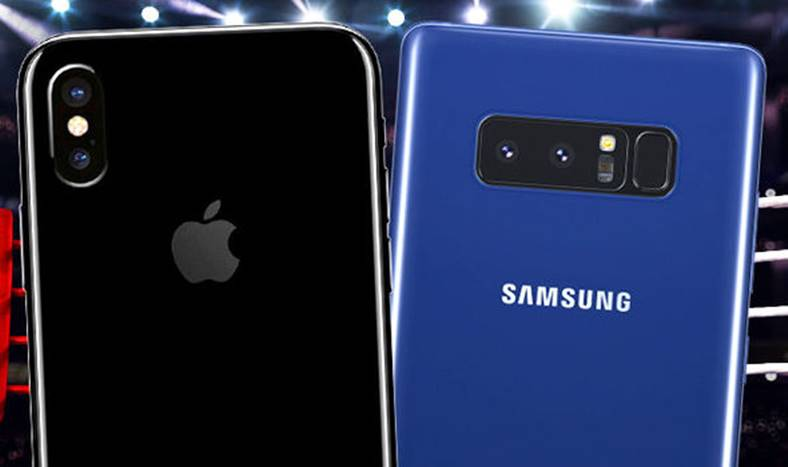 iPhone X galaxy Note 8 autonomie bateriei