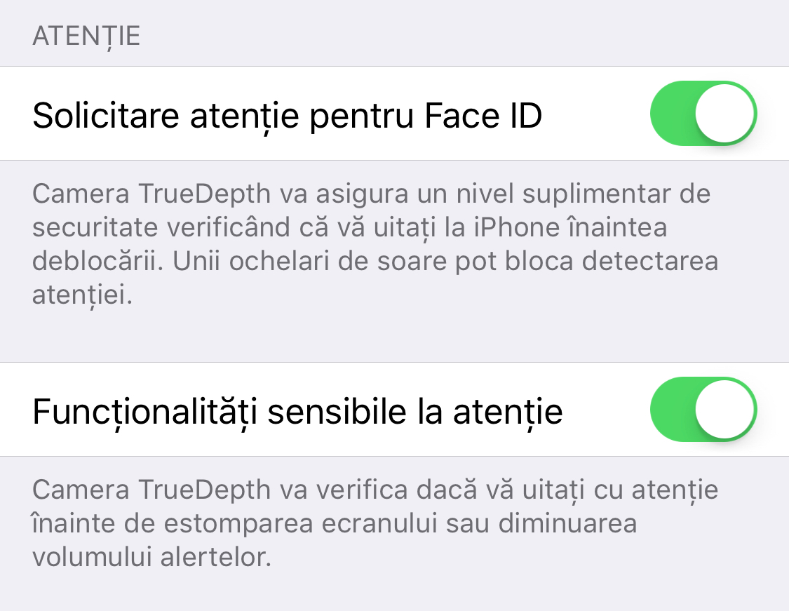 iPhone X review Face ID atentie