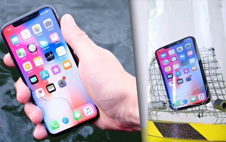 iPhone X test rezistenta apa