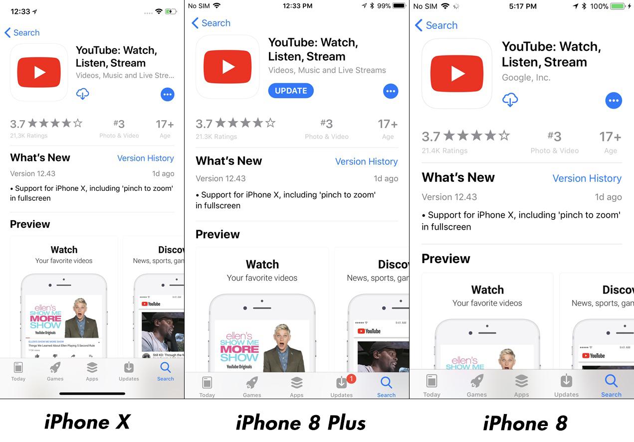 iPhone X vs iPhone 8 Plus Impact Rezolutie Afisare Imagini 10