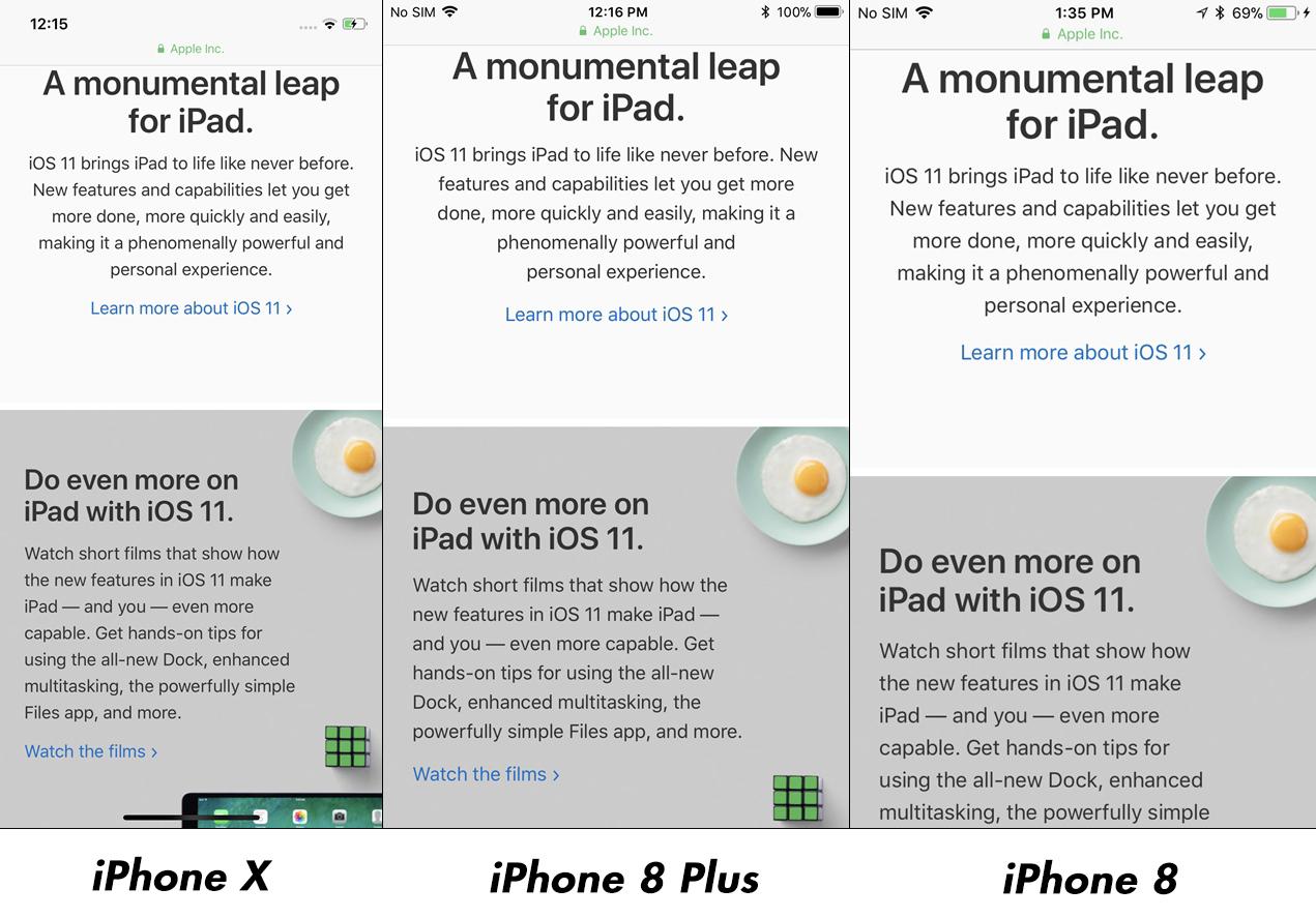 iPhone X vs iPhone 8 Plus Impact Rezolutie Afisare Imagini 3