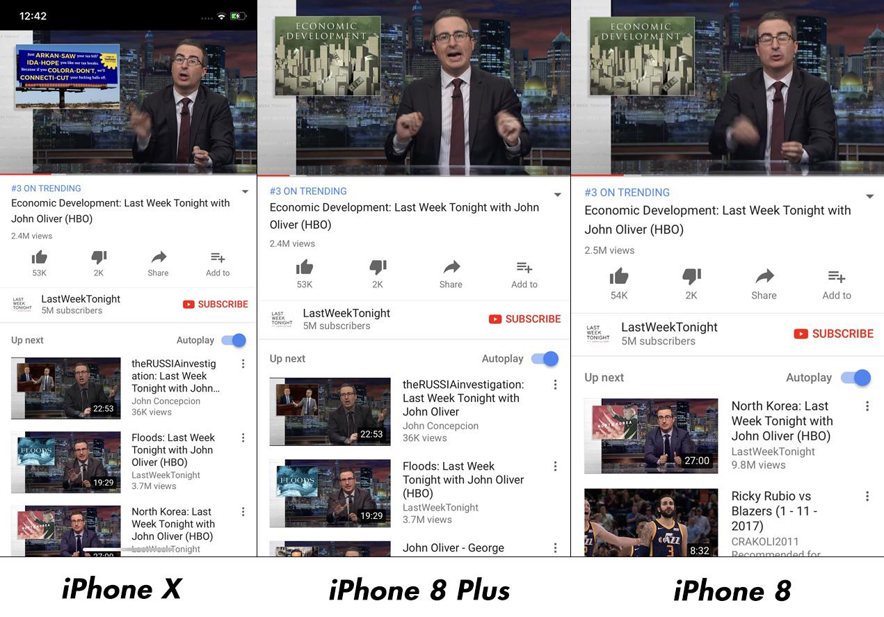 iPhone X vs iPhone 8 Plus Impact Rezolutie Afisare Imagini 9