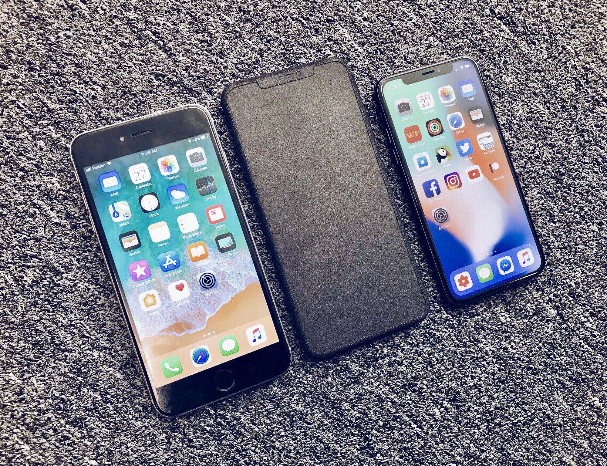 iPhone Xs comparat iPhone 8 Plus vs iPhone X