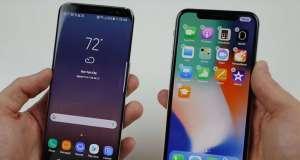 iphone x galaxy s8 drop test