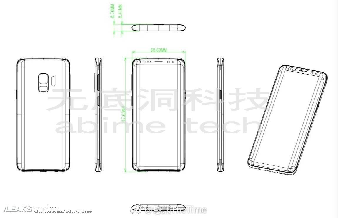 Samsung Galaxy S9 schite design