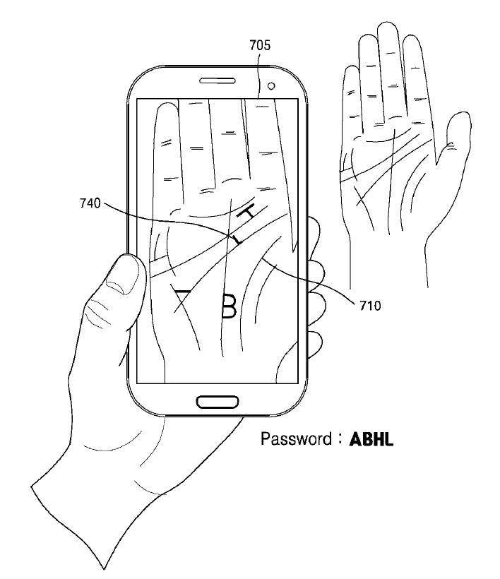 Samsung securitate biometrica palma 2