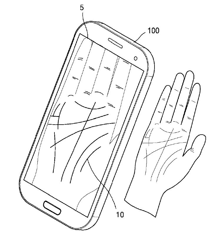 Samsung securitate biometrica palma