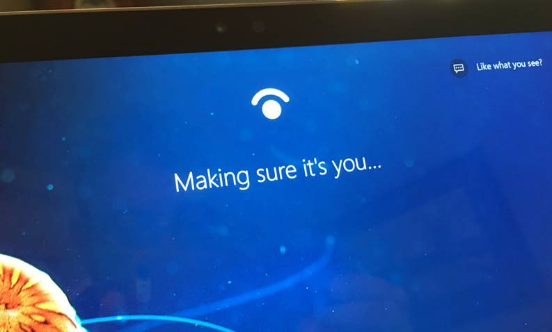 Windows 10 recunoastere faciala pacalit poza hello