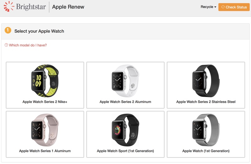 apple watch reciclare